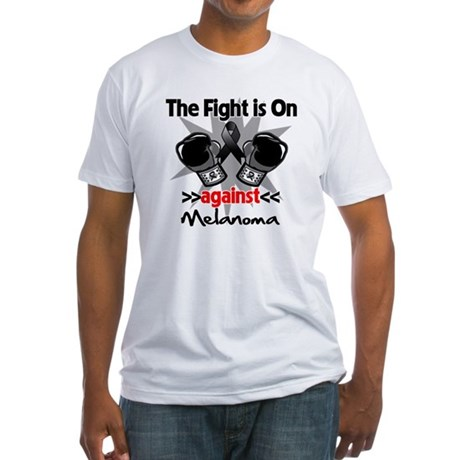 Fight is On Melanoma Fitted T-Shirt