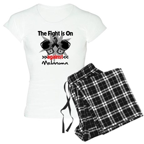 Fight is On Melanoma Women's Light Pajamas