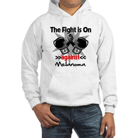 Fight is On Melanoma Hooded Sweatshirt