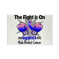 Fight Male Breast Cancer Rectangle Magnet (100 pac