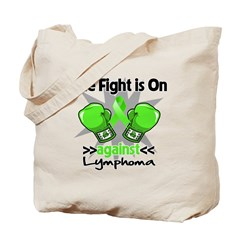 Fight is On Lymphoma Tote Bag