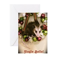 """Jingle Bells"" Possum Card"