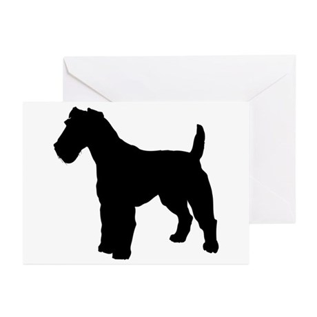 Fox Terrier Silhouette Greeting Cards (Pk of 10)