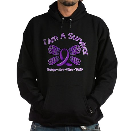 Pancreatic Cancer Survivor Hoodie (dark)