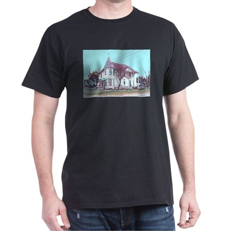 Old House on the Corner Black T-Shirt