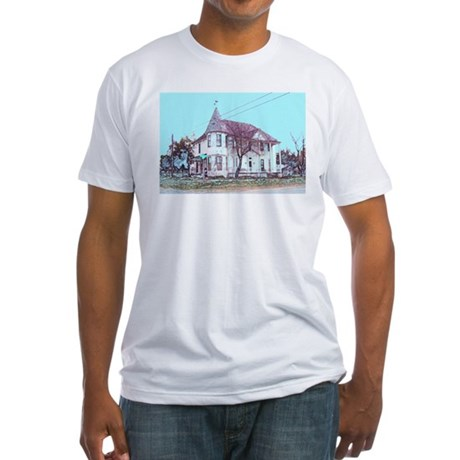 Old House on the Corner Fitted T-Shirt