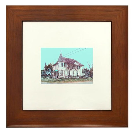 Old House on the Corner Framed Tile