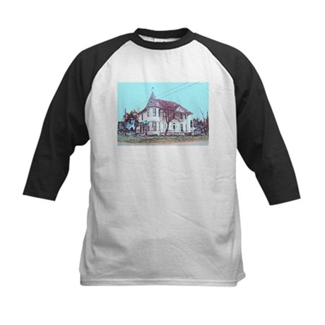 Old House on the Corner Kids Baseball Jersey