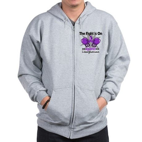 Fight Leiomyosarcoma Zip Hoodie