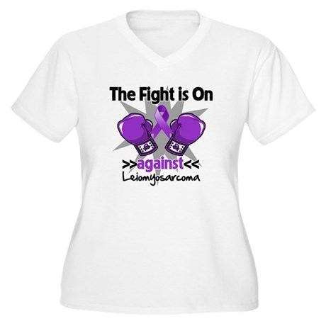 Fight Leiomyosarcoma Women's Plus Size V-Neck T-Sh