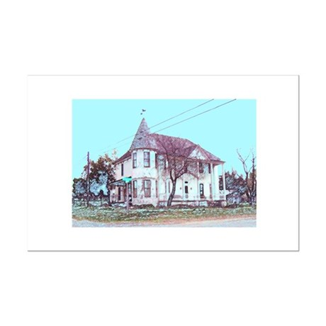 Old House on the Corner Mini Poster Print