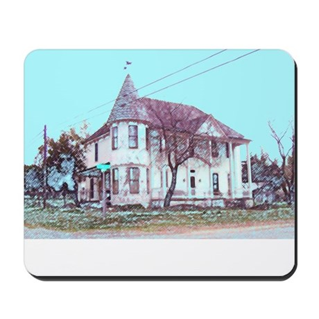 Old House on the Corner Mousepad