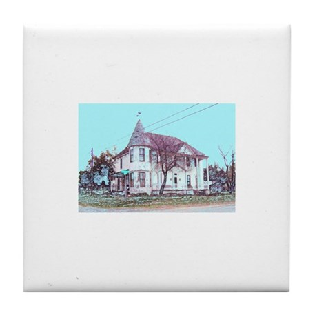 Old House on the Corner Tile Coaster