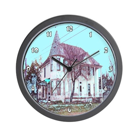 Old House on the Corner Wall Clock
