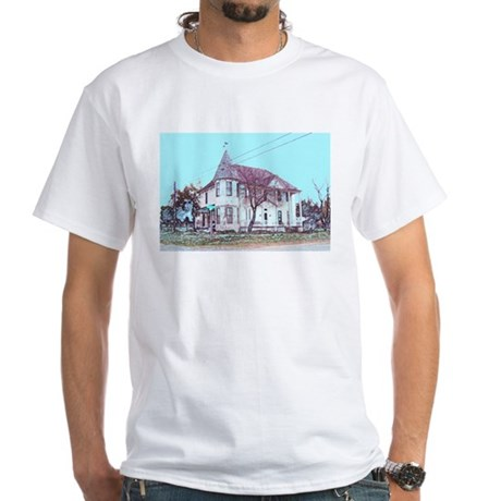 Old House on the Corner White T-Shirt