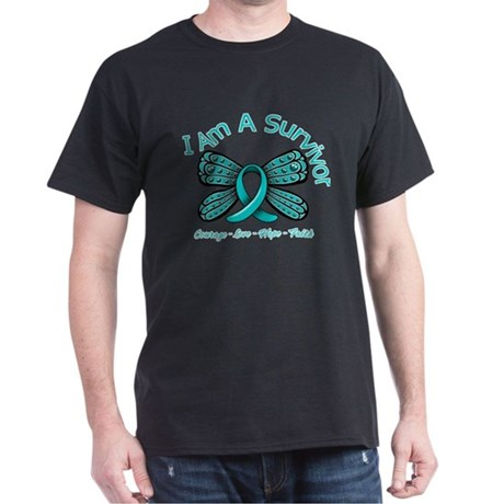 Ovarian Cancer I'm A Survivor Dark T-Shirt