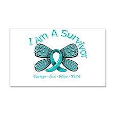 Ovarian Cancer I'm A Survivor Car Magnet 20 x 12