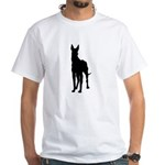 Great Dane Silhouette White T-Shirt