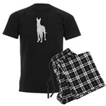Great Dane Silhouette Men's Dark Pajamas