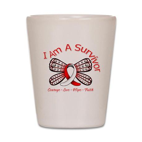 Oral Cancer I'm A Survivor Shot Glass