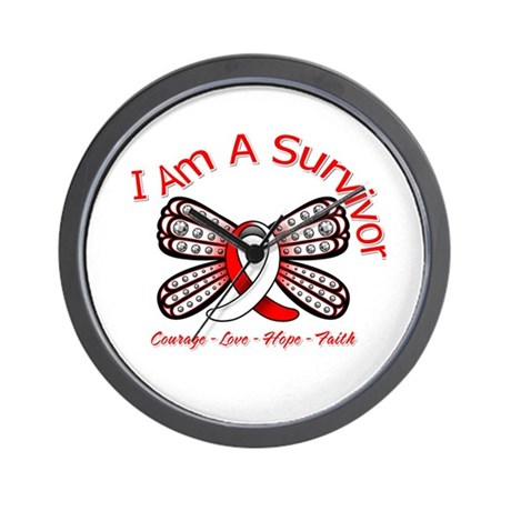 Oral Cancer I'm A Survivor Wall Clock
