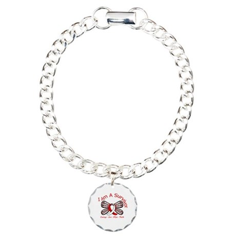 Oral Cancer I'm A Survivor Charm Bracelet, One Cha