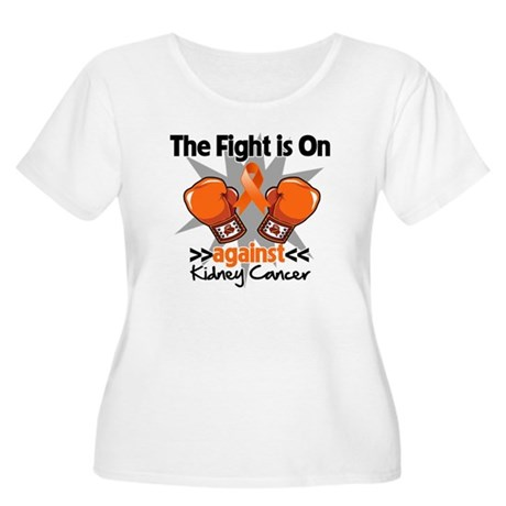 Kidney Cancer Fight Women's Plus Size Scoop Neck T