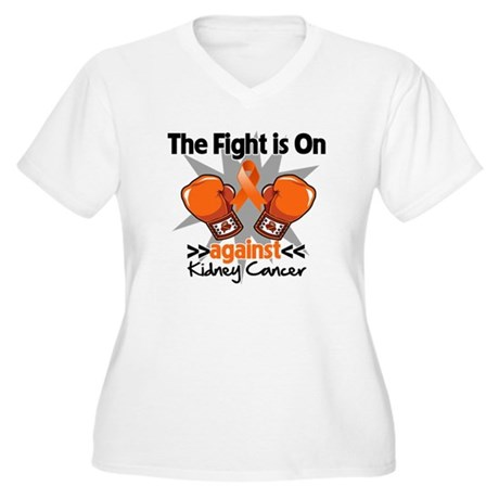 Kidney Cancer Fight Women's Plus Size V-Neck T-Shi