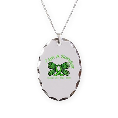 Non-Hodgkin's Lymphoma I'm A Survivor Necklace Ova