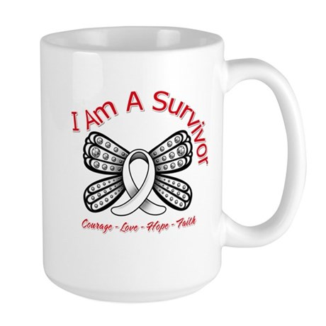 Neuroblastoma I'm A Survivor Large Mug