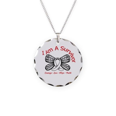 Neuroblastoma I'm A Survivor Necklace Circle Charm