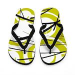 Lime, White, Black Designed Flip Flops
