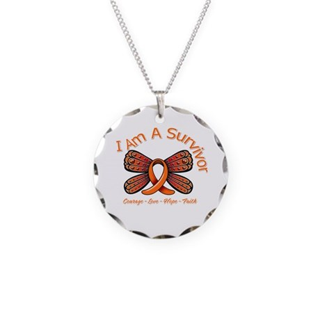 Multiple Sclerosis I'm A Survivor Necklace Circle