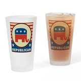 Retro Republican Drinking Glass