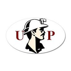 U.P. Miner 22x14 Oval Wall Peel