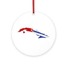 """""""Pixel Cuba"""" Ornament (Round)"""