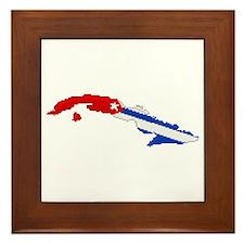 """Pixel Cuba"" Framed Tile"