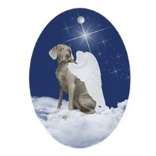 Weimaraner Ornament (Oval)