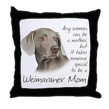 Weimaraner Mom Throw Pillow