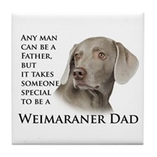 Weimaraner Dad Tile Coaster