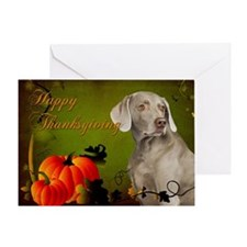 Weimaraner Thanksgiving Card