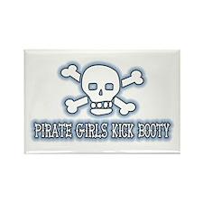 Pirate Girls Kick Booty Rectangle Magnet
