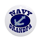 Navy Grandpa Ornament (Round)