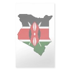 """Pixel Kenya"" Rectangle Decal"