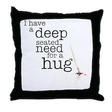 Need for a hug Throw Pillow
