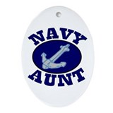 Navy Aunt Oval Ornament