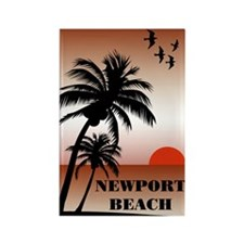Newport Beach Sunset Rectangle Magnet (100 pack)