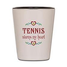 Tennis Warms My Heart Shot Glass