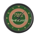 Track and Field Throws Large Wall Clock
