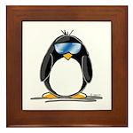 Cool penguin Framed Tile